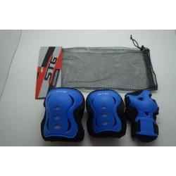 Защита детская STG YX-0317 комплект для велосипедa (красный, синий, черный)