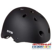 Шлем STG с фикс застежкой, модель MTV12 (черный; синий; салатовый)