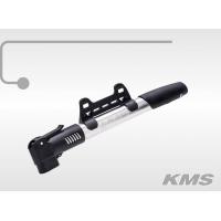 """Насос """"KMS"""", мини, алюминиевый, ручной, с т-ручкой,  AV/FV, с зажимом, с креплением на раму  под бутылку, инд. упак."""