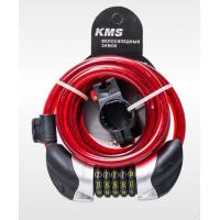 """Велозамок """"KMS"""", трос диаметр 12*1500мм, сменный код с подсветкой, 4 цвета, модель 2016 года"""