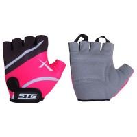 Перчатки STG летние быстросъемные с защитной прокладкой (розовый)