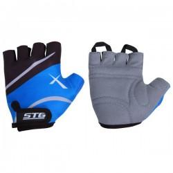 Перчатки STG летние быстросъемные с защитной прокладкой (синий)