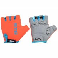 Перчатки STG, AL-03-325 летние для велосипедa (оранжево-черные)