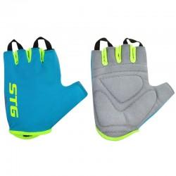Перчатки STG, AL-03-418, летние для велосипедa (голубые/салатовые)
