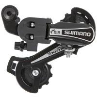 Переключатель задний Shimano Tourney, TY21-A, GS, 6ск. крепление на болт, цвет черный