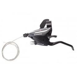 Шифтеры с тормозной ручкой Shimano Tourney, EF65, лев, 3 ск., черн., тр. 1800мм