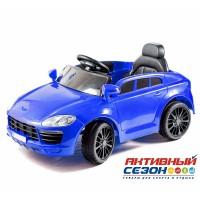Машина на аккумуляторе 6V4Ah*2, р/у, редуктор 25W*2, с амортизатором, 2,4G, MP3, свет, индикатор заряда, черный, .93*53*31.5см , пластиковые колеса