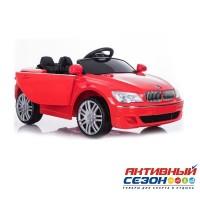 Машинка на аккумуляторе, 6V4AH*2, Р/У, колеса EVA, цвет-красный, свет, звук, мр3, открыв. двери, 108*58*33см, до 30 кг.