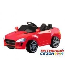Машина на аккумуляторе 6V7Ah, 1 мотор, РУ,  красный,110*60*50 см, до 30 кг. , пластиковые колеса