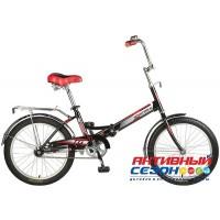 """Велосипед NOVATRACK TG30 (20"""" 1 скор) ( Р-р=12"""", Цвет: черный) Рама сталь"""
