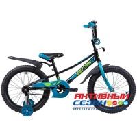 """Детский велосипед Novatrack Valiant 18"""" (Фуксия; Белый; Черный)"""