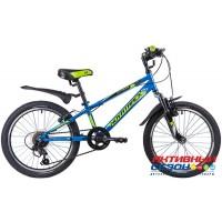 """Велосипед Novatrack Extreme (2020) (20"""" 6 скор.) (Цвет: Синий, Зеленый) Рама Сталь"""