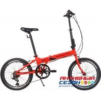 """Велосипед NOVATRACK 20"""" складной алюм. Shimano 6 speed , стальная вилка"""