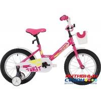 """Детский велосипед NOVATRACK TWIST (18"""" 1 скор) (Цвет: зеленый, розовый ) Рама сталь"""