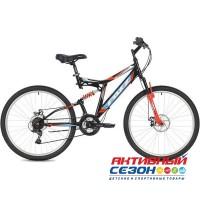 """Велосипед FOXX FREELANDER (26"""" 18 скор.) (Р-р = 18""""; Цвет: Красный, Черный) Рама Сталь"""