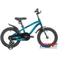 "Детский велосипед NOVATRACK 16"" PRIME 2020 (Синий металлик) Рама алюминий"