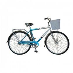 Велосипед Байкал с корзиной (28 дм. 1 скор.) (Цвет: Зеленый; Ярко-Зеленый (Бирюзовый)) Рама Сталь