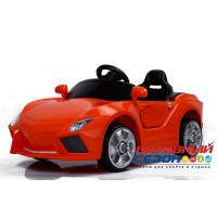 Машинка на аккумуляторе, 6V4AH*2, Р/У, колеса EVA, красный, свет, звук, мр3, открыв. двери, 115*60*50см, до 30 кг.