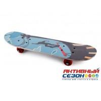 Скейтборд маленький ST2406, колеса PVC, крепление пластмасса, в ассорт. (60*15 см)