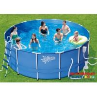 Каркасный бассейн Summer Escapes 427х132 см + фильтр-насос, лестница, настил, тент, набор для чиски DELUXE, скиммер