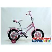 """Велосипед Царевна 12"""" (Белый / Розовый)"""