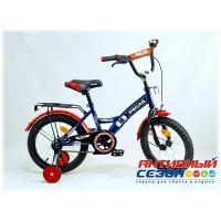 """Детский велосипед Pegas 18"""" (Синий; Синий / Красный)"""