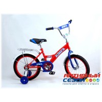 """Детский велосипед Юнга 18"""" (Красный / Белый; Бирюзовый / Зеленый; Белый / Синий / Красный)"""