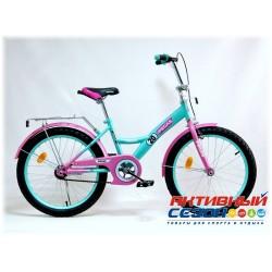 """Детский велосипед Pegas 20"""" (Бирюзовый / Розовый)"""