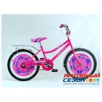 """Детский велосипед Принцесса 20"""" (Розовый)"""