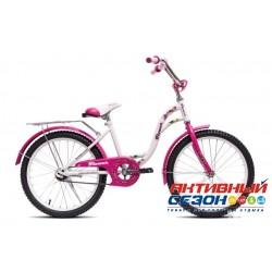 """Детский велосипед Flower 20"""" (Белый / Зеленый)"""
