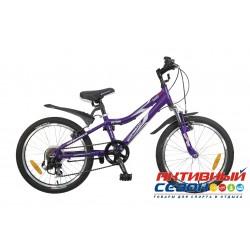"""Велосипед NOVATRACK ACTION (20"""" 7 скор.) ( Цвет: Фиолетовый) Рама Алюминий"""