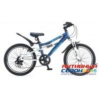 "Велосипед NOVATRACK ACTION-JS200 (20"" 7 скор.) ( Цвет: Темно-Синий) Рама Алюминий"