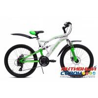"""Велосипед Extreme Disc (24"""" 21 скор.) (Цвет: Зеленый) Рама Сталь"""