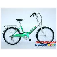 """Велосипед Волна (24"""" 6 скор.) (Зеленый) Рама Сталь"""