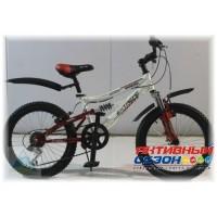 """Велосипед Extreme ABD-2005 (20"""" 6 скор.) (Цвет: Синий; Красный) Рама Сталь"""