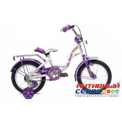 """Детский велосипед Flower 18"""" (Белый / Фиолетовый)"""