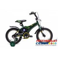 """Детский велосипед Formula Apache 14"""" (Зеленый (Милитари))"""