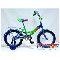 """Детский велосипед Комета 16"""" (зеленый / синий)"""