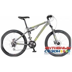 "Велосипед Stinger Apollo (26"" 21 скор.) (Р-р = 17""; Цвет: Серый/Зеленый) Рама Алюминий"