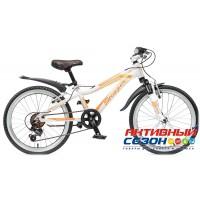 """Велосипед Stinger Fiona (20"""" 6 скор.) (Цвет: Белый/Фиолетовый) Рама Алюминий"""