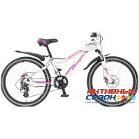 "Велосипед Stinger Fiona (24"" 21 скор.) (Белый/Синий) Рама Алюминий"