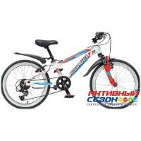 """Велосипед Stinger Magnet (20"""" 6 скор.) (Цвет: Белый/Оранжевый) Рама Алюминий"""