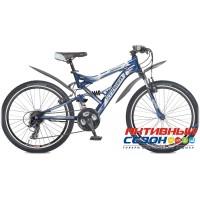 """Велосипед Stinger Versus (24"""" 21 скор.) (Р-р = 16,5; Цвет: Синий/Серый; Оранжевый) Рама Сталь"""