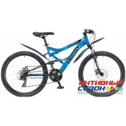 """Велосипед Stinger Versus D (26"""" 21 скор.) (Р-р = 16""""; 18""""; 20""""; Цвет: Синий; Р-р = 16"""" Цвет: Зеленый/Черный) Рама Сталь"""