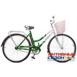 Велосипед Байкал с корзиной (28 дм. 1 скор.) (Красный; Ярко-Зеленый (Бирюзовый)) Рама Сталь