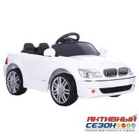 Машинка на аккумуляторе, 6V4AH*2, колеса EVA, цвет-белый, Р/У, свет, звук, мр3, открыв. двери, 108*58*33см, до 30 кг.