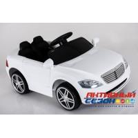 Машинка на аккумуляторе, 6V4AH*2, Р/У, колеса EVA, цвет-белый, свет, звук, открыв двери, 110*60*50см
