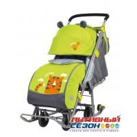 Санки - коляски Ника Детям 7 с тигром лимонный