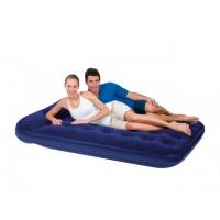 Надувная кровать Bestway флокированная + встроенный ножной насос (191x137х22см) 67225