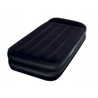 Надувная кровать Bestway флокированная +эл. насос +сумка (191x97x46см) 67381